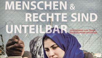 "Plakat der Ausstellung ""Menschen & Rechte sind unteilbar"""